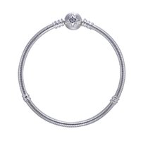 Wholesale Vintage Silver Snake Ring - 2017 Autumn Style Authentic 925-Sterling-Silver Moment Silver Bracelet With Starry Sky Clasp For Women Vintage Gift