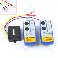 Wholesale remote control jeeps - Wholesale- 50ft Wireless Winch Remote Control Switch Handset Kit For Jeep ATV SUV UTV 12V