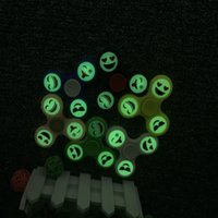 Wholesale Cheap Glowing Toys - Fidget Tri-Spinner emoji glow in the dark Autism ADHD Hand Spinner Anti Stress fidget toys mix color cheap