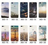 Wholesale Eiffel Iphone - Landscape Plating Coloured Drawing Elizabeth Tower Big Ben Eiffel Cases Silicone Translucent TPU Cover Case For iPhone X 8 7 plus 6S 5S
