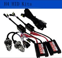 Wholesale Dual Beam Hid Kits - Automotive AC 12V H4 55w Xenon HID Kit High Low Dual Beam replacement Bulbs for car
