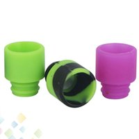 Wholesale Electronic Cigarettes Drip Tips Disposables - Disposable Silica Gel 510 Drip Tip Wide Bore Mouthpiece 10 Colors fit RDA Atomizer RBA Electronic Cigarette DHL Free