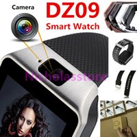 Wholesale Wristwatch Mp3 Player - Smart Watch DZ09 VS U8 A1 GT08 With Camera Anti-lost Bluetooth WristWatch Support SIM Card MP3 Player Watch White Black Silver Gold In Stock