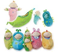 Wholesale Peanuts Doll - New Hot Manhattan Children Sleep Dolls Pea princess Peanut Cute baby Plush toys Coax sleep toy#468