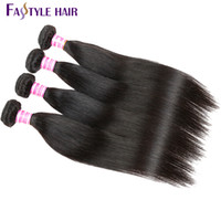 Wholesale Super Cheap Human Hair Extensions - Cheap Fastyle Indian Straight Hair Weave Extension Unprocessed Brazilian Peruvian Malaysian Mink Virgin Human Hair Bundles Super Quality