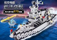 Wholesale Enlighten Aircraft - Enlighten 112 Modern Military Cruiser Assembly Aircraft Carrier SWAT Model Bricks Building Block Toys For Gift For Children