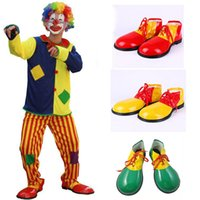 Wholesale Green Carnival Costumes For Sale - Wholesale Hot Sale Cool Halloween Costumes Cosplay Adult Funny Circus Clown Shoes Carnival Party Costume For Men Or Women Unisex