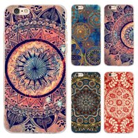 Wholesale Transparent Flower Art - 2017 Coque Transparent Soft TPU Phone Cases for iphone 7 7Plus for iPhone 5S 5 SE 6 6S Plus Case Nebula Mandala Flower Art Cover free dhl