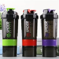 Wholesale powder drinks for sale - Group buy 500ML Three Layers Albumen Powder Shake Bottle Multi Function Outdoor Sport Portable Cup Creative Fashion Hot Sale sk J R