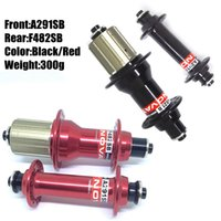 Catazer Red Black Color Novatec 291 Road Bike Hubs Frontal A291SB 20 Holes Rear F482SB 24 Hoyos About 300g Bicycle Hub