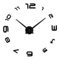 Wholesale Wood Wall Watch - Wholesale-2016 new real home decorations quartz modern wall clock clocks watch horloge 3d diy acrylic mirror stickers free shipping wood