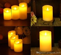 Wholesale Simulation Candle Light - 4 Sizes Flameless Light Novely LED Lighting Real Flame-effect LED Electronic Candle Simulation Candle Lamp b538