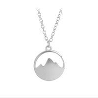 Wholesale Charm Hiking - Tiny Mountain Range Top Charms Necklace for Outdoor Hikers, Skiers Snowboarders Hiking Enthusiasts Snow Mountain Lovers Gift