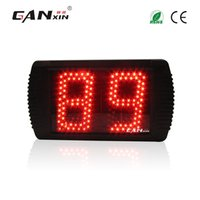 Wholesale Cheap Digital Counters - [GANXIN]5 inch 2 Digits Semi-outdoor Red Color Cheap Large Digital Counter LED Display Used in Clinics and Streets