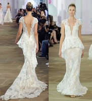 column wedding dress peplum prices - detachable peplum train lace sheath wedding dresses 2017 sleeveless plunging neckline cap sleeves bridal wedding gowns