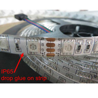 Wholesale Led Strip Multicolor Lights - Promotion price waterproof IP65 RGB Multicolor 72W 5Meter 1M 60LED 14.4W SMD5050 LED Flexible strip lights 3M Glue DC12V Wall lighting