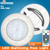 Wholesale Waterproofing Leds Underwater - Wholesale swimming pool lighting AC DC 12v led lamp smd 5730 90pcs leds ip68 waterproof Underwater Lights RGB+Remote controller