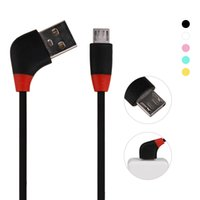 Оптовые цены Micro / Lightning 1M 3.3ft Round Elbow Cable Plug USB 2.0 Кабель для Iphone / Ipad Samsung Smartphone
