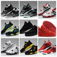 best toro bravo basketball shoes  - Top Quality Retro 4 Men Basketball Shoes 4s White Cement Toro Bravo 4s Superman Bred Thunder Sports Shoes With Box