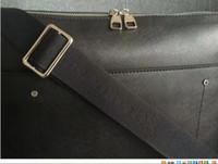 Wholesale Document Handbag - business briefcase tote PORTE-DOCUMENTS VOYAGE PM black plaid real genuine leathert trim men's shoulder bag handbag laptop bag