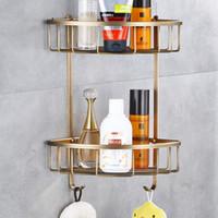 food metal over 20 modern antique brassshower shelf shampoo holder bathroom corner rack storage basket hanger