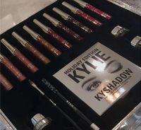 Wholesale White Cream Eyeliner - 2016 kylie holiday edition makeup set kylie cosmetics 10pcs lipsticks+1 set eyeliner+kyshadow+eye cream big box hot sale best christmas gift