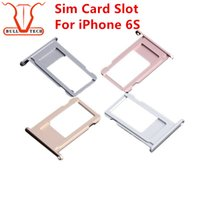 Wholesale Fix Rose - For Iphone 6s Nano SIM Card Slot Tray Holder Replacement Adapter Kit Fix Parts for 6S 4.7 Inch Gray Gold Silver Rose