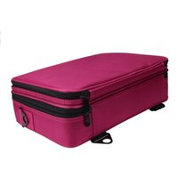 Wholesale professional case aluminum online - Unisex Cosmetic Bag Solid Nylon Three Portable Professional Makeup Case High Quality Cosmetics Box Bolso Maquillaje