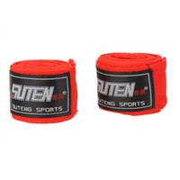 Wholesale Free Sports Gear - Wholesale One Pair Length 2.5M Cotton Sports Strap Sanda Muay Thai MMA Taekwondo Boxing Bandage Hand Wraps Free Shipping