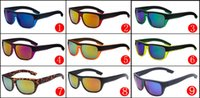 Wholesale Cheap Hinges - AA+++ Cheap Sunglasses for Men Reflective Coating Square Sun Glasses Women outdoor 9colors sun glasses Beach glasses with metal hinges