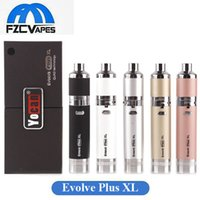 Wholesale Technology Wholesale - Authentic Yocan Evolve Plus XL Wax Pen 1400mah Dab Pen Starter Kit with Silicon Jar Quad Technology Coil 100% Original