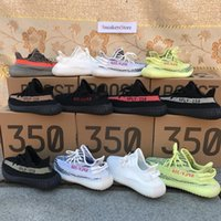 Wholesale Pvc Double - [Double Boxes Socks Receipt Keychain] Boost 350 Sply 350 V2 Cream White Zebra Bred Black Red Beluga 2.0 Running Shoes Sport Sneakers