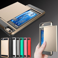 iphone 5s slim wallet case 2018 - Card pocket shock proof slim hybrid wallet case cover for iphone 6 6 plus 7 7 plus 5s