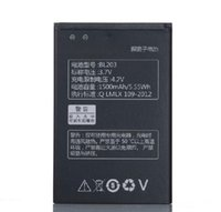 Wholesale Lenovo A278t Battery - ALLCCX high quality real capacity battery BL203 for Lenovo A308T A369 A309 A278 A278T A66 A218t A305e A318T A380e A385E