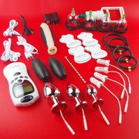 elektrische schockierende sexspielzeug zubehör großhandel-2019 Electro Penis Stimulator Cock Ring Analplug Sexspielzeug Für Männer Stromschlag Medizinische Themed Cock Ring Spielzeug Zubehör