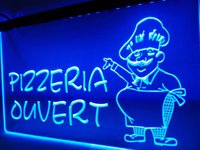 LK188- Pizzeria Ouvert OPEN Pizza Shop LED Neon Light sign
