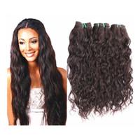 Wholesale Cheap Brazilian Water Wave Hair - Brazilian Virgin Hair Natural Wave 3Bundles 300g 100g bundle Wet And Wavy Virgin Brazilian Water Wave Cheap Human Hair Weave