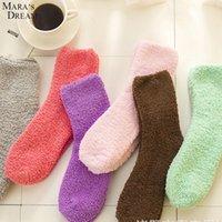Wholesale Dream Socks - Wholesale- Mara's Dream 12pairs lot Women Fuzzy Socks for Women Sock Winter Fluffy Doudou Material Thick Warm Fleece Sleep household Socks