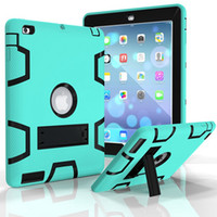 Wholesale Ipad Air Case Package - 3 in 1 Case Defender shockproof for Ipad case Heavy duty protective STAND Cover For ipad 234 air mini 1234 with opp package