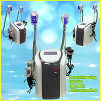 Wholesale Home Use Rf - lipo laser weight loss slimming for home use beauty salon equipment fat freezing cavitation rf home machines with two fat freezing handles