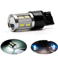 Wholesale H1 High Power Led - 7443 7440 car LED bulbs 12 SMD 5730 Xenon White W21   5W high power lamp