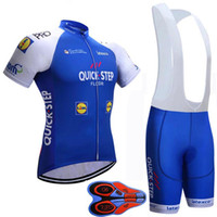 Wholesale Floor Dryers - quick step floor pro cycling jersey 2017 9D gel pad Breathable quick-drying bike maillot ropa ciclismo Bicycle MTB bicicleta clothing set