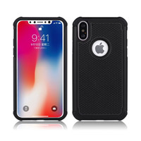 Wholesale wholesalers football phone cases - For iPhone X 10 8 Plus Samsung Note 8 S8 3 in 1 Football Pattern Phone Case Tires Shock Mobile Phone Protective Cover