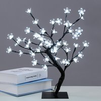 Wholesale lighted bonsai resale online - Waterproof cm Inch LEDs Cherry Blossom Desk Top Bonsai Tree Light Black Branches Indoor Outdoor Christmas Decoration Lights