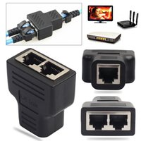 RJ45 Adaptador Splitter 1 a 2 Dual Female Port CAT5 / CAT6 LAN Ethernet Sockt Network Connector Splitter