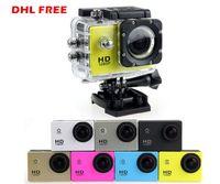 "Wholesale Sport Camera Hd Underwater - 10PCS SJ4000 Extreme Action Helmet Sport Camera 1.5"" LCD1080P SJ 4000 Waterproof mini DVR Underwater Full HD Sports DV video Cam"