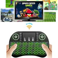Wholesale Smart Tv Box Fly Mouse - Rii I8 Smart Fly Air Mouse Remote Backlight 2.4GHz Wireless Keyboard Remote Control Touchpad For S905X S912 TV Android Box X96 A95X