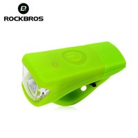 Wholesale Rechargeable Silica Gel - Wholesale- ROCKBROS Waterproof Silica Gel Bicycle Front Light Bike Handlebar Bike USB Rechargeable Riding Cycle Light Lamp Accessories