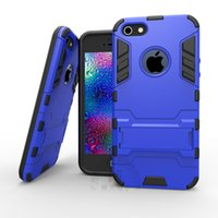 Wholesale Iphone 5s Case Armour - Cell for iphone case 5 5s 5se 6 6plus 7 7plus hight quality Silicone+ Plastic Duty 2 in 1 armour Cover Shell specimen 1pcs free shiping