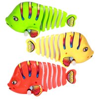 5pcs / lot Animal Chain Wind Up Fish Toys Детский качающийся мультфильм Fish Model Swing Robofish Mini Clockwork Classic Toddler Nice Gifts